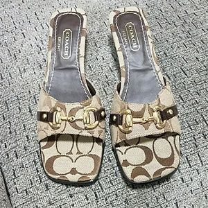 Coach heel open toed shoes! Size 10